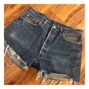 Vintage Levi's 501 Cutoffs, Cutoff Denim 501's, 34